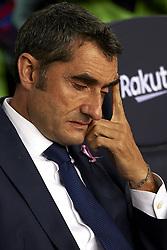October 20, 2018 - Barcelona, Catalonia, Spain - Ernestro Valverde during the week 9 of La Liga match between FC Barcelona and Sevilla FC at Camp Nou Stadium in Barcelona, Spain on October 20, 2018. (Credit Image: © Jose Breton/NurPhoto via ZUMA Press)