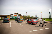 The Chill Out restaurant along the A47 on the 28th April 2010 in Guyhirn in the United Kingdom.