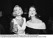Nan Kempner & Susan Gutfreund. Valentino party. Rome. 7 June 1991. Film 91558f15<br />© Copyright Photograph by Dafydd Jones<br />66 Stockwell Park Rd. London SW9 0DA<br />Tel 0171 733 0108