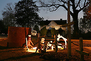 An image from the series Season's Greetings, documenting Christmas in my native North Carolina.<br /> <br /> A nativity made by outsider artist Clyde Jones of Bynum, North Carolina.