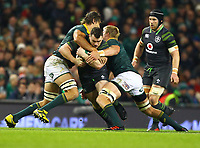 Rugby Union - 2017 Guinness Series (Autumn Internationals) - Ireland vs. South Africa<br /> <br /> Ireland's Cian Healy in action against South Africa's Eben Etzebeth, left and Peter-Steph du Toit , at the Aviva Stadium.<br /> <br /> COLORSPORT/KEN SUTTON