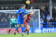 MJ Williams wins the ball during the EFL Sky Bet League 1 match between Rochdale and Bradford City at Spotland, Rochdale, England on 29 December 2018.