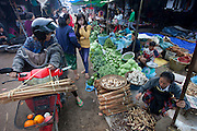 Phousy public market in Ban Saylom Village, just south of Luang Prabang, Laos.