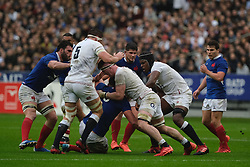 February 2, 2020, Saint Denis, Seine Saint Denis, France: The Lock of England Team CHARLIE EWELS in action during the Guinness Six Nations Rugby tournament between France and  England at the Stade de France - St Denis - France.. France won 24-17 (Credit Image: © Pierre Stevenin/ZUMA Wire)