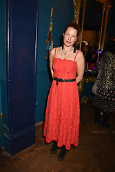 Davina Harbord at Mark Shand's Adventures and His Cabinet Of Curiosities VIP private view, 32 Portland Place, London, England. 20 February 2018.