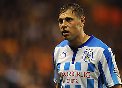 Huddersfield Town's Grant Holt on loan from Wigan Athletics - Photo mandatory by-line: Dougie Allward/JMP - Mobile: 07966 386802 - 01/10/2014 - SPORT - Football - Wolverhampton - Molineux Stadium - Wolverhampton Wonderers v Huddersfield Town - Sky Bet Championship