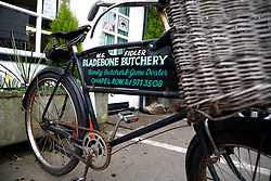 UK ENGLAND BERKSHIRE CHAPEL ROW 22MAR11 - The Bladebone Butchery shop in Chapel Row, Berkshire, England...jre/Photo by Jiri Rezac..© Jiri Rezac 2011