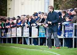 Steven Pressley, Falkirk manager..Annan Athletic 0 v 3 Falkirk. Semi Final of the Ramsdens Cup, 9/10/2011..Pic © Michael Schofield.