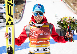 Kamil Stoch of Poland  after the trophy ceremony after the Ski Flying Hill Men's Team Competition at Day 3 of FIS Ski Jumping World Cup Final 2017, on March 25, 2017 in Planica, Slovenia. Photo by Vid Ponikvar / Sportida