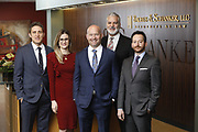 SHOT 1/8/19 12:18:22 PM - Bachus & Schanker LLC lawyers James Olsen, Maaren Johnson, J. Kyle Bachus, Darin Schanker and Andrew Quisenberry in their downtown Denver, Co. offices. The law firm specializes in car accidents, personal injury cases, consumer rights, class action suits and much more. (Photo by Marc Piscotty / © 2018)
