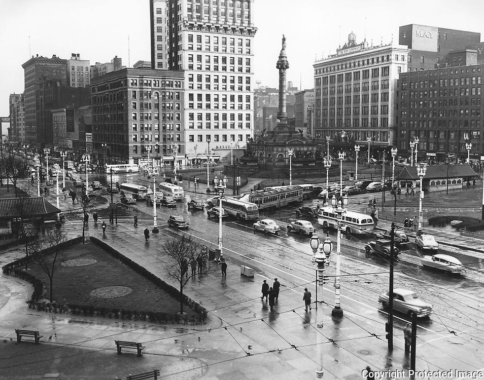 Cleveland public square 1950's