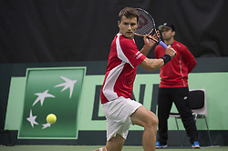 September 15, 2017 - Biel, Schweiz - Biel, 15.09.2017, Tennis, Davis Cup, Schweiz - Weissrussland, Marco Chiudinelli (SUI) (Credit Image: © EQ Images via ZUMA Press)