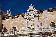 Traditional Spanish architecture in Leon, Castilla y Leon, Spain