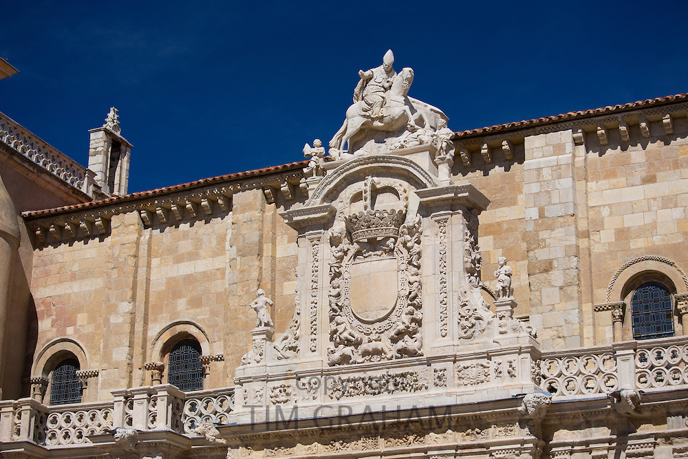 Traditional Spanish architecture in Leon, Castilla y Leon, Spain