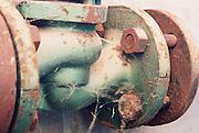A rusty water valve