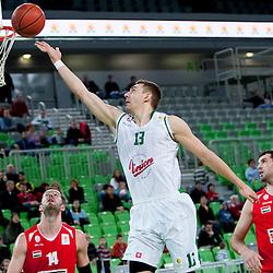 20140215: SLO, Basketball - ABA League, KK Union Olimpija Ljubljana vs KK Szolnoki Olaj