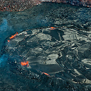 Aerial view of Big Island and Hawaii Volcanoes National Park.