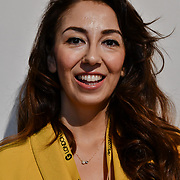 Speaker Simay Dinc is a game producer and cofounder of recontact playable arts at London Games Festival 2019: HUB at Somerset House at Strand, London, UK. on 2nd April 2019.