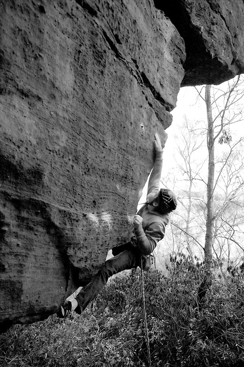 Pete Whittaker on the first ascent of 'Pieces of Eight' E8 7a at Rainroach Rock, England