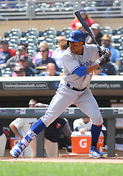 May 2, 2018 - Minneapolis, MN, U.S. - MINNEAPOLIS, MN - MAY 02: Toronto Blue Jays Outfield Curtis Granderson (18) at the plate during a MLB game between the Minnesota Twins and Toronto Blue Jays on May 2, 2018 at Target Field in Minneapolis, MN.The Twins defeated the Blue Jays 4-0.(Photo by Nick Wosika/Icon Sportswire) (Credit Image: © Nick Wosika/Icon SMI via ZUMA Press)