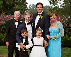 family portraits at a gay wedding