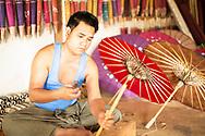 Making umbrellas, Myanmar