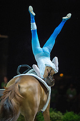 Anna Cavallaro, (ITA), Harley, Nelson Vidoni - Individuals Women Technical Vaulting - Alltech FEI World Equestrian Games™ 2014 - Normandy, France.<br /> © Hippo Foto Team - Jon Stroud<br /> 04/09/2014