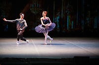 Ekaterina Kondaurova and Timur Askerov at the rehearsal for the BALLET ICONS GALA 2020  evening of world class ballet celebrating the Russian Ballet School photo by Brian Jordan
