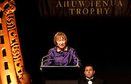 The  Associate Minister for Maori Affairs, the Hon Georgina te Heuheu QSOspeaks at the 2010 Ahuwhenua Trophy  Bank of New Zealand Maori Excellence in Farming competition awards dinner held at the Taupo Event Centre, Taupo. Friday 28 May 2010.<br /> <br /> ***FREE FOR EDITORIAL USE***<br /> <br /> PHOTO COURTESY: ahuwhenuatrophy.co.nz