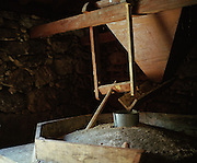 The community mill. Everyday less and less people of the village are using it. The flour of the supermarket is much cheaper than growing cereals.