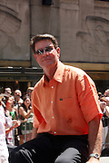 Jim Palmer at the Major League Baseball All-Stars and 49 Hall of Famers ride up Sixth Avenue in All Star-Game Red Carpet Parade Presented by Chevy on July 15, 2008
