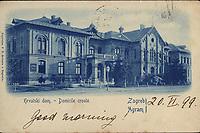 Hrvatski dom - Domicile croate : Zagreb = Agram. <br /> <br /> ImpresumZagreb : Papirnica F. X. Hribara, [1899.].<br /> Materijalni opis1 razglednica : tisak ; 9,3 x 14 cm.<br /> NakladnikPapirnica F. X. Hribar<br /> Mjesto izdavanjaZagreb<br /> Vrstarazglednice<br /> ZbirkaGrafička zbirka NSK • Zbirka razglednica<br /> ProjektPozdrav iz Hrvatske<br /> Formatimage/jpeg<br /> PredmetZagreb –– Trg Antuna, Ivana i Vladimira Mažuranića<br /> Jezikhrvatski<br /> SignaturaRZG-TMAZ-5<br /> Obuhvat(vremenski)19. stoljeće<br /> NapomenaPutovala je 1899. godine • Poleđina razglednice je namijenjena samo za adresu<br /> PravaJavno dobro<br /> Identifikatori000921643<br /> NBN.HRNBN: urn:nbn:hr:238:468651 <br /> <br /> Izvor: Digitalne zbirke Nacionalne i sveučilišne knjižnice u Zagrebu