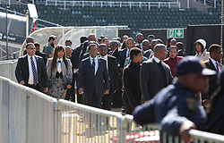 17/07/2017 <br /> King Zwelithini of Kwazulu Natal is seen entering the Nelson Mandela Annual Lecture that will be delievered by the Former President of America Barack Obama at Wanderers Stadium, Johannesburg.<br /> Picture: Nhlanhla Phillips/African News Agency/ANA