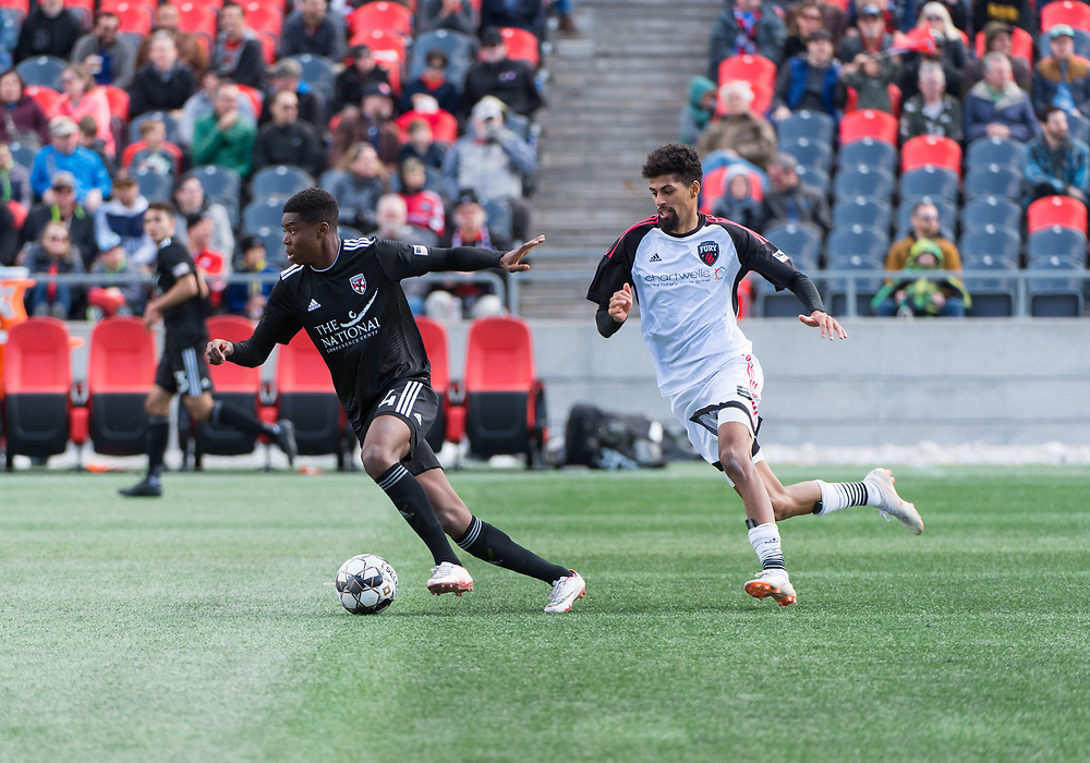 OTTAWA, ON - APRIL 13: USL Championship match between the Ottawa Fury FC and Loudoun United FC at TD Place Stadium in Ottawa, ON. Canada on April 13, 2019.<br /> <br /> PHOTO: Steve Kingsman/Freestyle Photography for Ottawa Fury FC