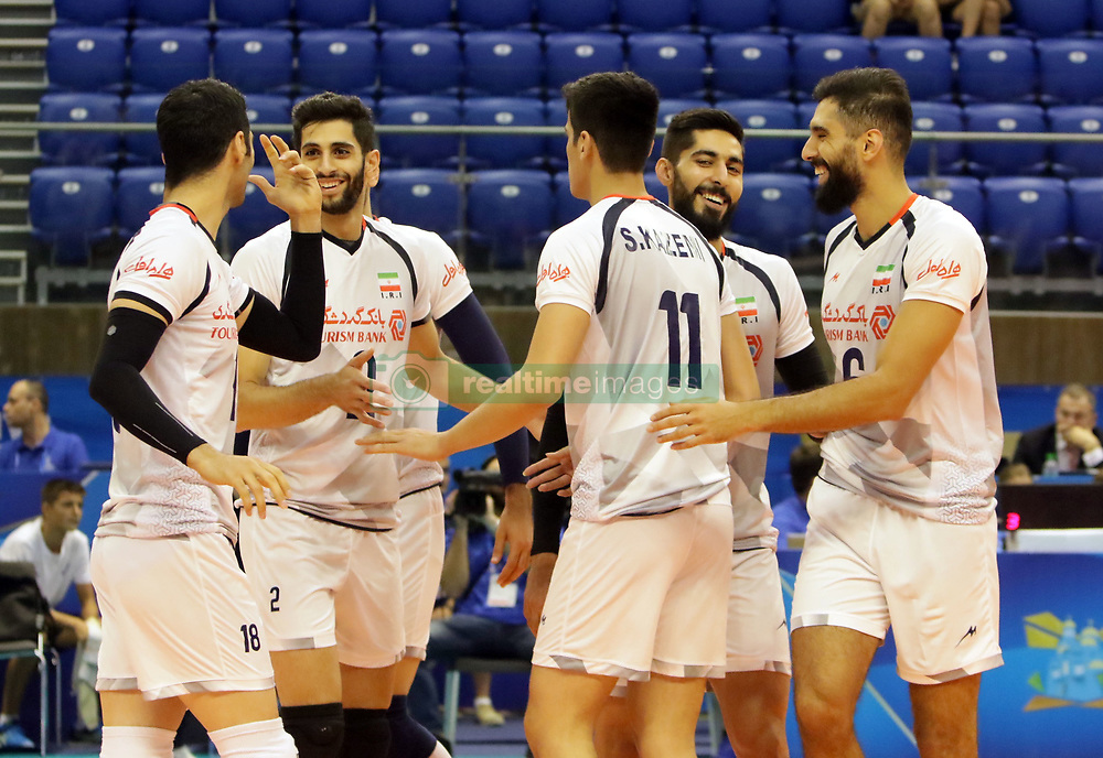 September 12, 2018 - Varna, Bulgaria - joy of the Iranian team.FIVB Volleyball Men's World Championship 2018, pool D, Iran vs Puerto Rico,. Palace of Culture and Sport, Varna/Bulgaria, .the teams of Finland, Cuba, Puerto Rico, Poland, Iran and co-host Bulgaria are playing in pool D in the preliminary round. (Credit Image: © Wolfgang Fehrmann/ZUMA Wire)