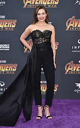 Elizabeth Olsen attends the World Premiere of Avengers: Infinity War on April 23, 2018 in Los Angeles, CA, USA. Photo by Lionel Hahn/ABACAPRESS.COM