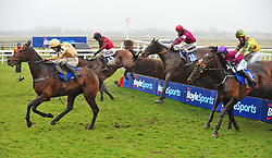 General Principle ridden by JJ Slevin (centre) before going on to win the BoyleSports Irish Grand National Chase during BoyleSports Irish Grand National Day of the 2018 Easter Festival at Fairyhouse Racecourse, Ratoath, Co. Meath.