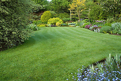 Well kept lawn at Eastgrove Cottage in spring