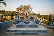 Military cemetary of Doc Lap Hill 'Gabrielle,' the resting place of an estimated 2432 Vietnamese soldiers, Muong Thanh Valley, Dien Bien Province, Vietnam, Southeast Asia