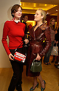 Jasmine Guinness and Lady Eloise Anson, Burberry party to launch collection in  support of Breakthrough Breast Cancer. New Bond St. shop. Londddon. 5 October 22004. ONE TIME USE ONLY - DO NOT ARCHIVE  © Copyright Photograph by Dafydd Jones 66 Stockwell Park Rd. London SW9 0DA Tel 020 7733 0108 www.dafjones.com