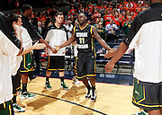 CHARLOTTESVILLE, VA- DECEMBER 6:  Vertrail Vaughns #11 of the George Mason Patriots runs thru the lineup during the game on December 6, 2011 against the Virginia Cavaliers at the John Paul Jones Arena in Charlottesville, Virginia. Virginia defeated George Mason 68-48. (Photo by Andrew Shurtleff/Getty Images) *** Local Caption *** Vertrail Vaughns