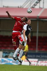Noll Enil & Carl Finnigan.<br /> Falkirk 1 v 0 FC Vaduz, Europa League Qualifying.<br /> ©2009 Michael Schofield. All Rights Reserved.