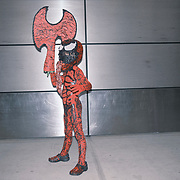 Gabriel Tirado dressed as Carnage at the 2021 New York Comic Con at the Javits Center in Manhattan, New York on Thursday, October 7, 2021. John Taggart for The New York Times