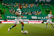 Tabata conducts the ball during the Liga NOS match between Sporting Lisbon and Belenenses SAD at Estadio Jose Alvalade, Lisbon, Portugal on 21 April 2021.