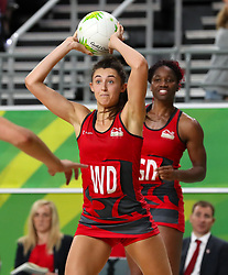 England's Beth Cobden during England's match against New Zealand at the Gold Coast Convention and Exhibition Centre during day seven of the 2018 Commonwealth Games in the Gold Coast, Australia.