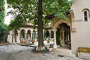 Exterior of the Stavropoleos Monastery (aka Stavropoleos Church) in Bucharest, Romania
