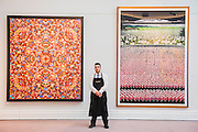 Sotheby's £250m Impressionist & Modern Art and Contemporary Art Summer Sales.  Highlights include: Monet's Water Lilies est £20-30m; a Mondrian, est £13-18m; a Peter Doig, est £9m; a Frances Bacon triptych of his lover George Dyer, est £15-20m; Kingdom of Heaven by Damien Hirst  (pictured left with work by Andreas Gursky); and works by Matisse, Picasso, Basquiat, Warhol and Richter. Sotheby's, New Bond Street, London.