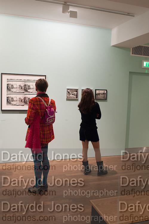 SILVIA ZIRANEK; VALERIE GENTY, Warhol, Burroughs and Lynch exhibition. The Photographers' Gallery, Ramillies Place, London. 16 January 2014.