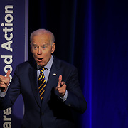 """COLUMBIA, SC - JUNE 22:  Vice President, Joe Biden, tells attendees to """"Vote"""" in the next election at the We Decide: Planned Parenthood Action Fund 2020 Election Forum to Focus on Abortion and Reproductive Rights event   in Columbia, SC on June, 22 2019. Many of the Democratic candidates running for president are in Columbia to make appearances at the South Carolina Democratic Party Convention and the Planned Parenthood Election Forum on June 22.(Logan Cyrus for AFP)"""