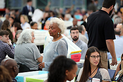 Broward County Supervisor of Elections Brenda Snipes walks the aisles as hand counting begins in the senate race at the Broward County Supervisor of Elections office in Lauderhill on Friday, November 16, 2018. Photo by Amy Beth Bennett/South Florida Sun Sentinel/TNS/ABACAPRESS.COM